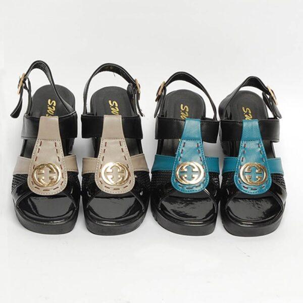 버클스완 통굽 여성샌들 (6cm) (9)